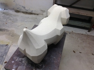 Facet Dog 2|Oamaru Stone|SOLD