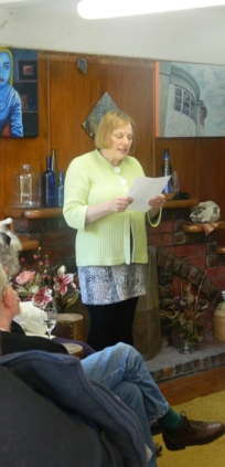 Cheryl reading the poem
