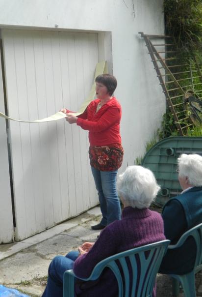 Cutting the ribbon