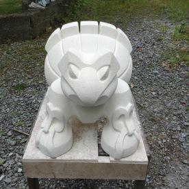Gosia,2016 Oamaru stone 300Hx470Lx350D mm $1200